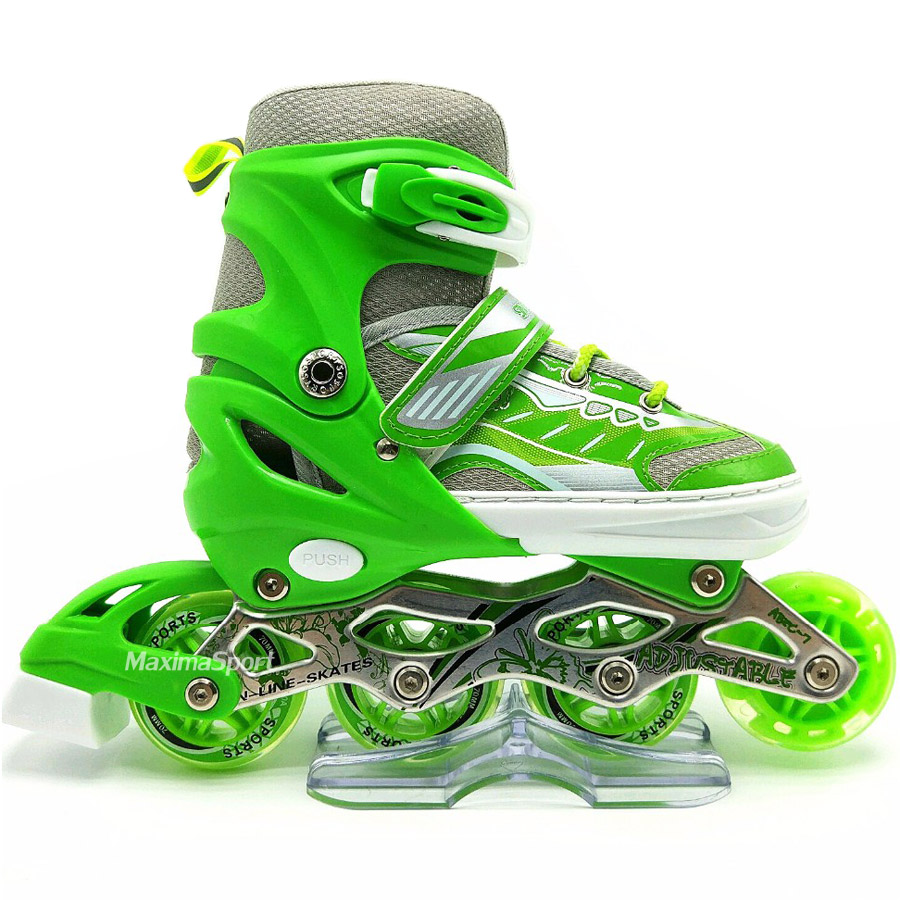 Inline skate 38-41 with LED wheel
