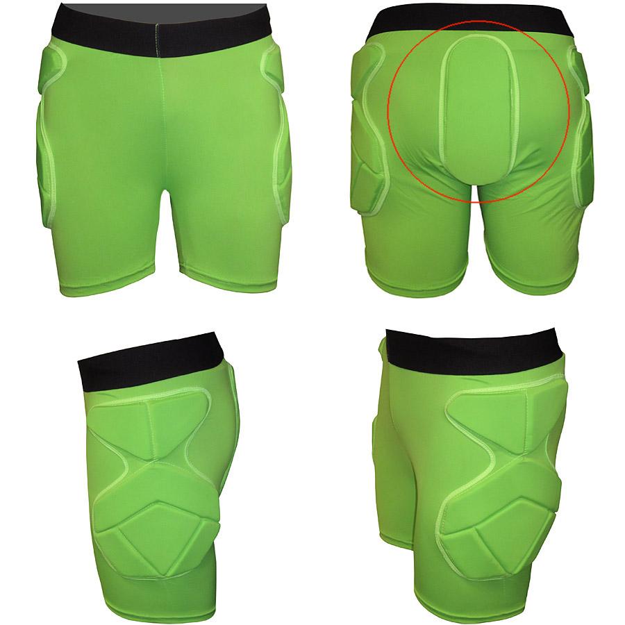 Pantaloni scurti cu protectii - laterale si spate