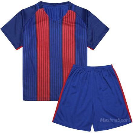 cfb0e93cee1 Детски футболен екип фланелка с шорти синьо и червено | Футболни ...