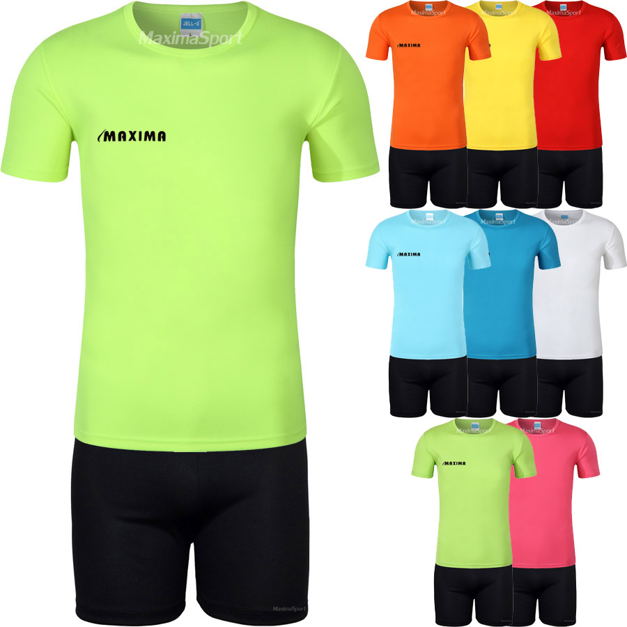 dea7094bdea Детски футболен екип фланелка с черни шорти | Футболни екипи за деца ...
