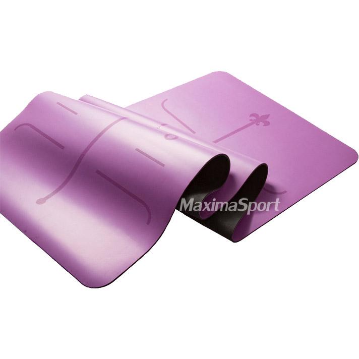 Yoga mat professional natural rubber and PU 183x68x0.5 cm.