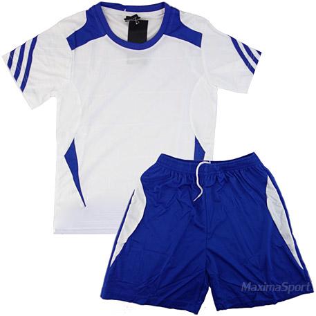 c3155f7c124 Детски волейболен екип фланелка с шорти бяло със синьо | Волейболни ...