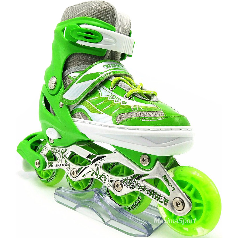 Inline skate 34-37 with LED wheel