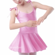 Dance suit with shoulder-straps and skirt for kids