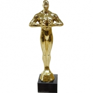 Oscar statuette 23.5 cm. marble stand