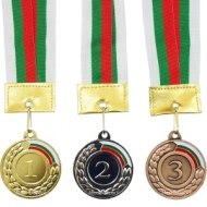 Medal of 5 cm. with tricolor band