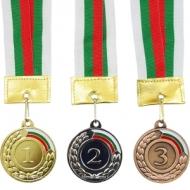 Medalie de 5 cm. cu banda tricolor