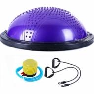 BOSU ball with a massaging surface