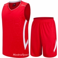 Basketball kit red and white
