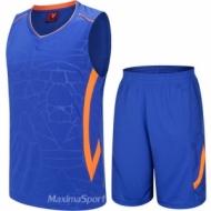 Echipament de baschet albastru si portocaliu