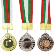 Medal 6.5 cm with ribbon