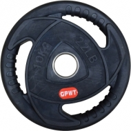 Training Rubber Disc Ø50 mm. 15 kg. with metal ring