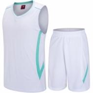 Echipament de baschet alb si verde