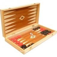 Backgammon in cutie de lemn