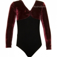 Gymnastic suit with long sleeve and pleated skirt for kids