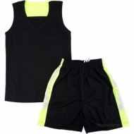 Basketball kit black and yelow for children