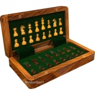 Wooden Folding Chess - small