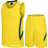 Echipament de baschet galben si albastru
