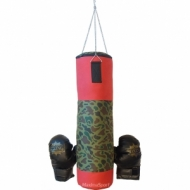 Boxing bag with gloves for children