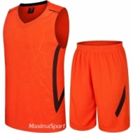 Basketball kit orange and blue