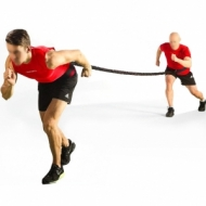 Resistance band for football training with two belts