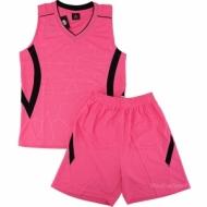 Echipament de baschet roz si negru