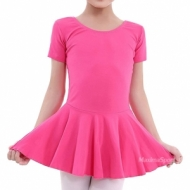 Dance (ballet) tricot with short sleeves and skirt for kids