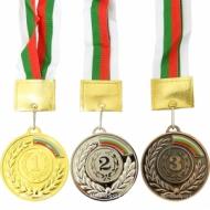 Medalie de 6.5 cm. cu banda tricolor