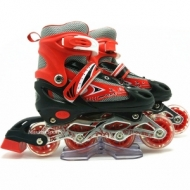 Rollers adjustable size: 30-33 with LED wheel