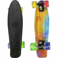 Skateboardul COMICS (penny board pennyboard) 22″ (56 cm.) cu imprimare color cu roti iluminate