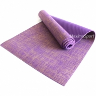 Yoga mat professional PVC and jute 183x61x0.6 cm.