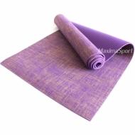 Saltea yoga profesional PVC si jute 183x61x0.6 cm.