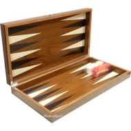 Backgammon in a wooden box Rays