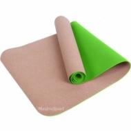 Yoga mat professional TPE and cork 183x61x0.6 cm.