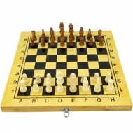 Chess and backgammon bamboo 34 cm.