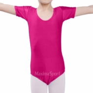 Gymnastic suit with short sleeve for kids