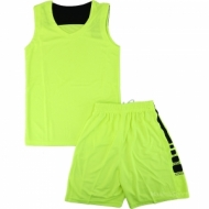 Basketball kit green and black for children