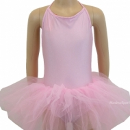 Dance suit short sleeve with skirt for kids