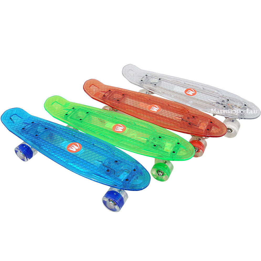 Skateboard plastic (penny board) 22″ (56 cm.)  with LED