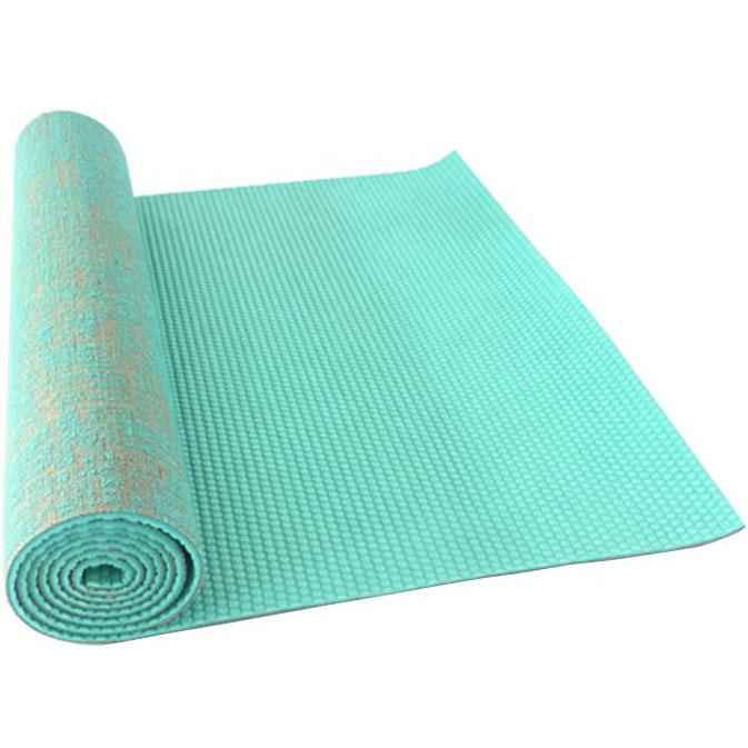 Yoga mat professional PVC and jute 183x61x0.6 cm.