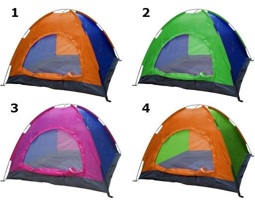 Палатка двуместна + 1